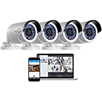 Oco Pro Bullet Outdoor/Indoor 1080p Cloud Surveillance and Security Camera with Remote Viewing (4 Pack)