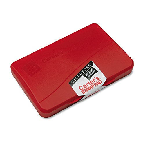 Avery Carter's Micropore Stamp Pad, Red, 2.75 inch x 4.25 inch (21271)