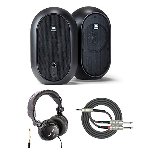 JBL One Series 104 Powered Desktop Studio Monitors with Headphones and Breakout Cable ()
