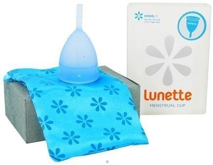 Lunette Reusable Silicone Menstrual Cup - (Model 1 Before Childbrth or Low Stream, Blue Selene) by - Store Lunette