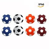 OFKPO Fashion 8pcs 36mm Multicolor Official Table Soccer Balls Foosball Ball Table Replacement Balls