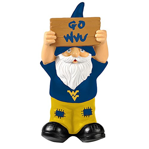 Elite Fan Shop WVU West Virginia Mountaineers Garden Gnome - Blue