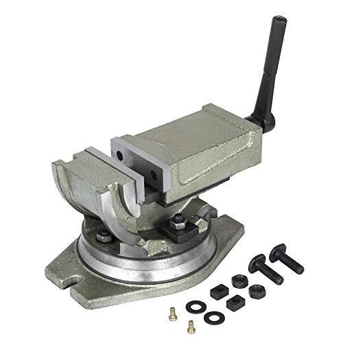 OrangeA Precision Milling Vise 4 Inch Tilting Vise Swivel Base Angle Tilting 2 Way Inclinable Press For Sale