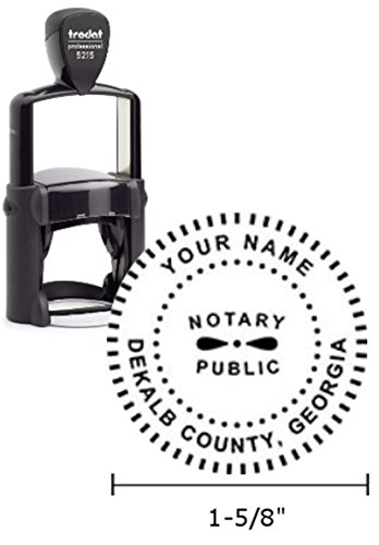 Trodat Professional Notary Stamp | Self Inking - 1.6 inch Diameter Prints | Georgia ()