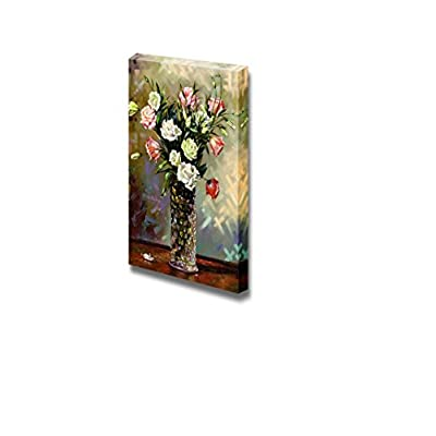 Canvas Prints Wall Art - Still-Life with a Vase and Flowers - 36