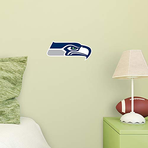 FATHEAD NFL Seattle Seahawks - Logo Teammate- Officially Licensed Removable Wall Decal, Multicolor, Large ()