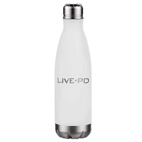 Amazon.com: Botella de agua delgada de acero inoxidable Live ...