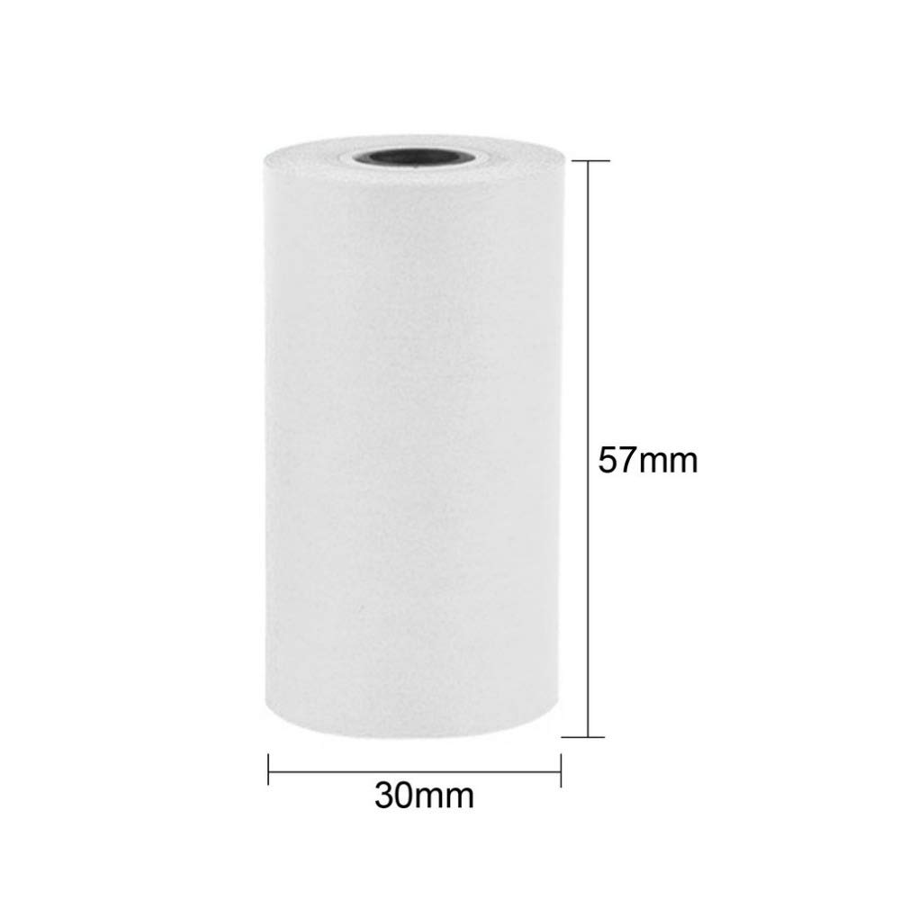 3 Rolls White Receipt Paper PAPERANG P1 Portable Bluetooth 4.0 Printer 57 30mm Thermal Paper for Paperang Paper,Portable Wireless Bluetooth Photo Printer Paper in White