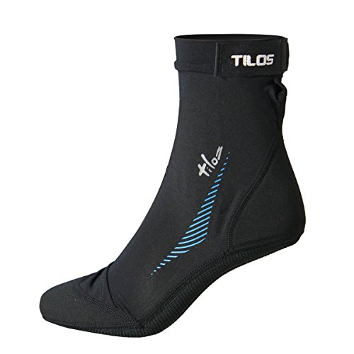 Tilos Sport Skin Socks for Adults and Kids, Protect Against Hot Sand & Sunburn for Water Sports & Beach Activities (Black, XS - Size (Beach Kids Socks)