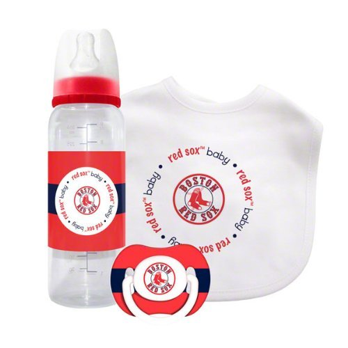 Baby Fanatic MLB Boston Red Socks Baby Gift Set