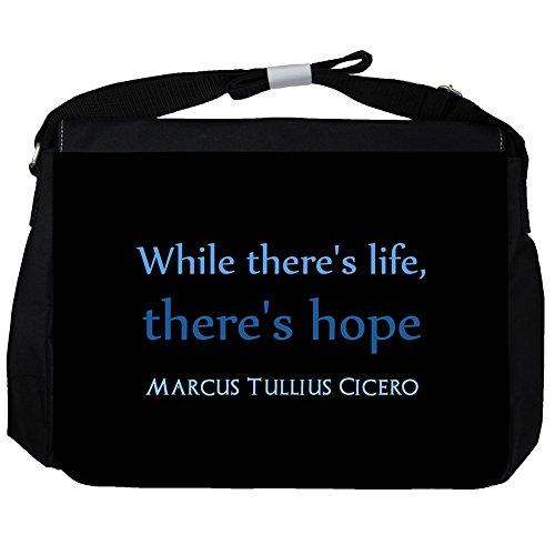 While there's life, - Marcus Tullius Cicero Unisex Umhängetasche