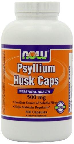 NOW Foods Psyllium Husk Capsules, 500 mg, 500 Count