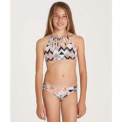 Billabong Girls' Zigginz High Neck Two Piece Swimsuit Set