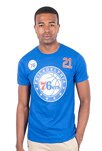 Ultra Game NBA Joel Embiid Philadelphia 76ers Men's T-Shirt Short Sleeve Tee Shirt, Medium, Royal ()