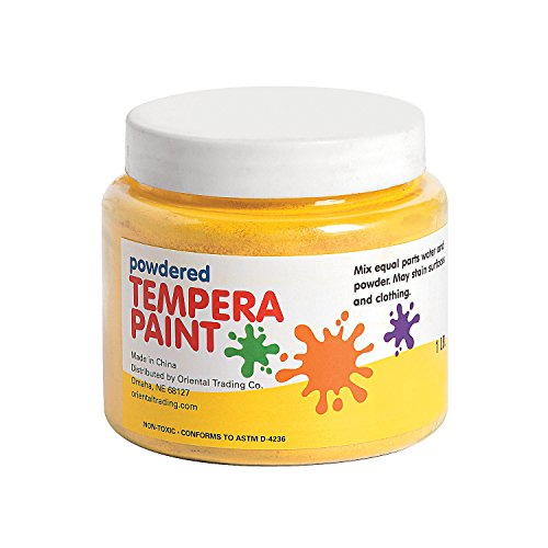 yellow-powder-tempera-paint