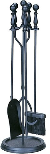 Wrought Ball Iron - Uniflame, F-1625, 5pc Black Wrought Iron Toolset with Ball Handles