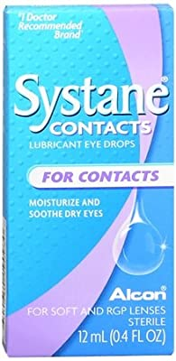Systane Contacts Lubricant Eye Drops, 12-mililiter Bottles (Pack of 2)