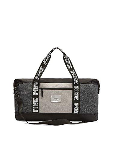 Victoria's Secret PINK Sports Duffle Bag Large Gym Bag Tote (Black & Marl) by Victoria's.Secret.