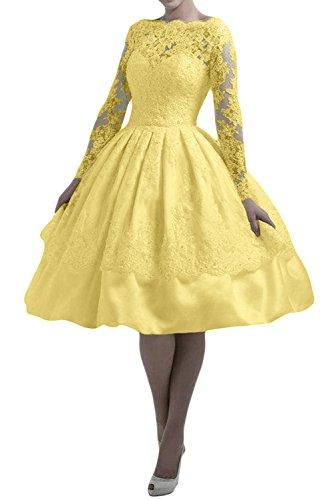 TOSKANA BRAUT - Robe - Trapèze - Femme -  jaune - 50