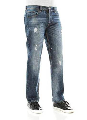 Akademiks Men's Burton Wash Straight Leg Denim Jeans size:30/32