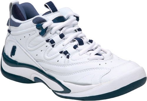 Amazon.com | Prince Women's QT Scream Mid Tennis Shoe - White/Navy ...