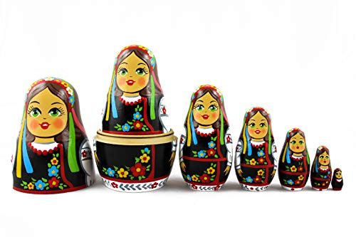 MATRYOSHKA&HANDICRAFT Ukrainian Nesting Dolls 7 Pieces - Ukrainian Gifts - Ukrainian Folk Costume Clothing by MATRYOSHKA&HANDICRAFT (Image #5)