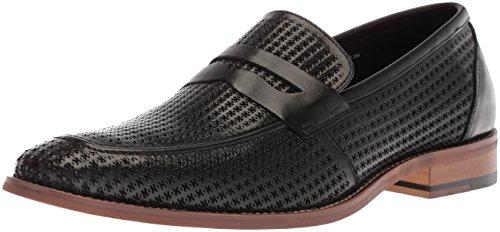 Stacy Adams Men's Belfair Moe Toe Penn Slip-on Penny Loafer, Black, 9 M US Adams Loafers