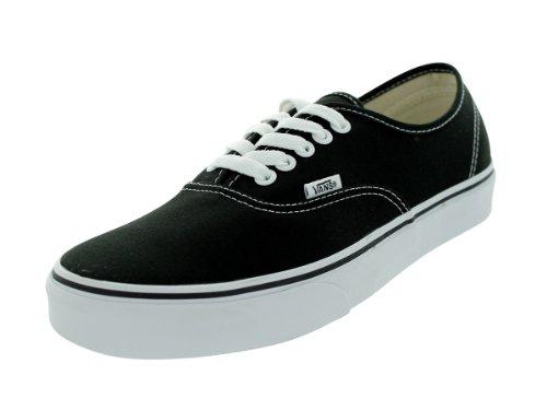 Vans Unisex Authentic(tm) Core Classics Black Sneaker Men's 9, Women's 10.5 Medium - Mens Vans Authentic
