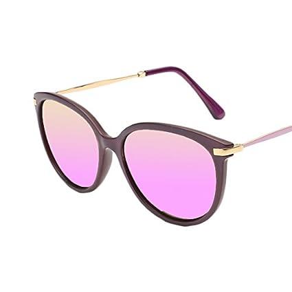 LBY Gafas De Sol Polarizadas Redondas Retro Polarizadas UV400 Gafas de Sol para Mujer (Color