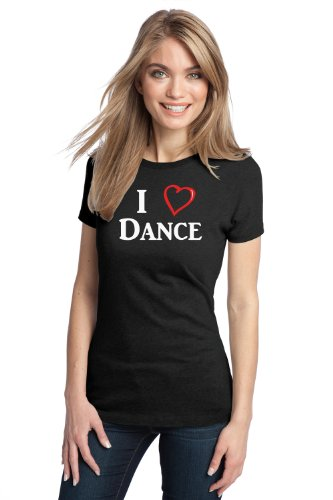 I LOVE (HEART) DANCE Ladies' T-shirt / Ballet, Tap Hip-Hop Dancing Lover Tee Shirt