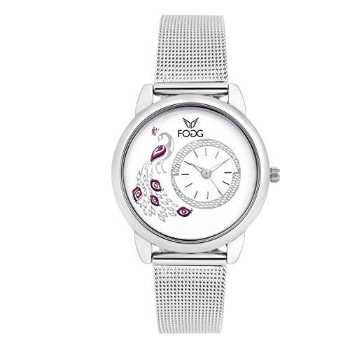 Fogg Analog White Dial Women's Watch 4031-WH