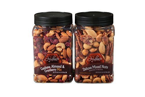 Deluxe Mixed Nuts (Jaybee's Mixed Nuts Gift Box, Featuring Salted Deluxe Mixed Nuts and Unsalted Cashew Almond Cranberry Mix Perfect Birthday & Holiday Gift)
