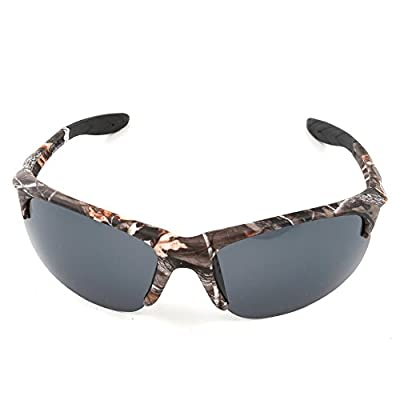 MOTELAN Polarized Outdoor Sports Sunglasses Tr90 Camo Frame for Driving Fishing Hunting Reduce Glare