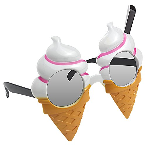 musykrafties Icecream Swirls Cones Party Costume Sunglasses Fun -