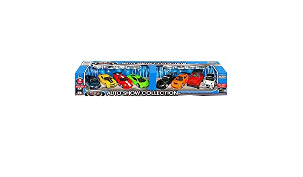 Doors Open and Close Red Assortment 8-pack Auto Show Collection Die-cast Cars