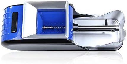 電動タバコラミネート機喫煙タバコパイプ自動インジェクターメーカーローラーDIY喫煙ツール使いやすい、2個、青、アメリカプラグ