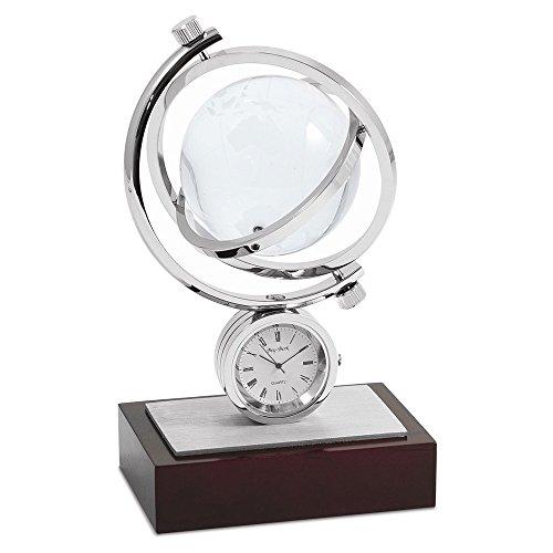 Jewelry Adviser Gifts Globe Gyro Austin Quartz Clock w/Chrome Accents ()