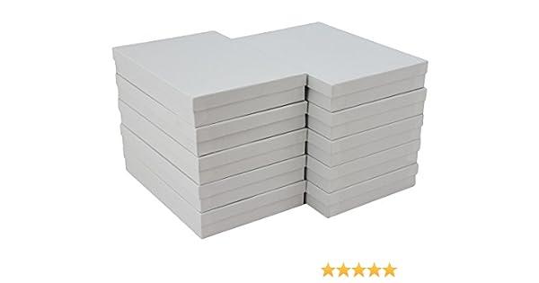 Relleno de algodón de remolino de Color blanco cajas de joyería # 85 (Pack de 10) 8