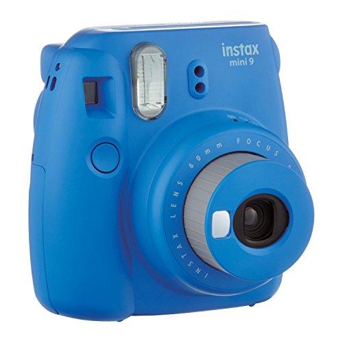 Fuji Instax Mini Camera Cobalt Carry Case AA Batteries & + Film