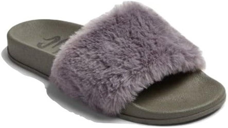 on wholesale 50% price detailing Amazon.com | Fur Top Sandal Grey | Sport Sandals & Slides