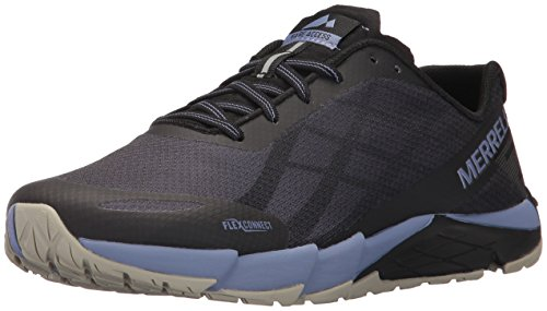 Merrell Women's Bare Access Flex Trail Runner, Black/Metallic Lilac, 9 M ()
