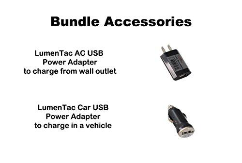 Nitecore HC60 1000 Lumen USB Rechargeable LED Headlamp, 3400 mAh 18650 included plus LumenTac Car & AC USB Adapters