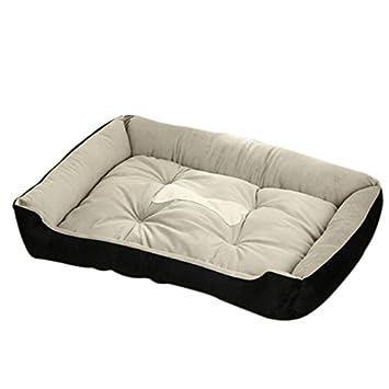 Cama Gato Nido para Mascotas Cama de Perro Comfortable Soft Cálido Nido Algodón Casa Suave Sofá para Perros grandesen Invierno y Otoño90*70 * 15cm: ...