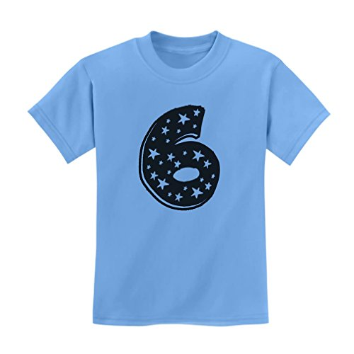 Tstars Six Years Old Birthday Gift Idea - I'm 6 Superstar Kids T-Shirt Small California Blue