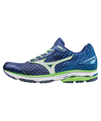 Mizuno Wave Rider 19 Blue White Green Blue