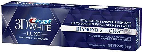 Crest 3D White Luxe Diamond Strong Whitening Toothpaste, Brilliant Mint - 5.5 oz (Diamond Strong)
