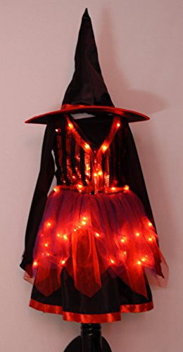 Light Up Witch Child Costumes (Witch Light Up Girls Costume (Size 6 to 8))