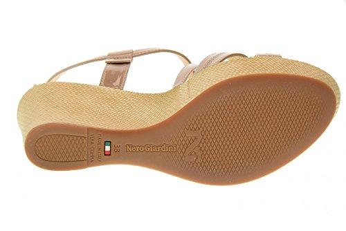 P805662D Giardini Femmes Compensées pour Sandales Nero Sable 410 14zqwCqxf