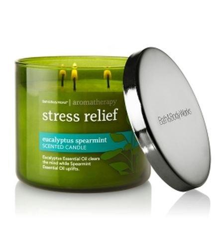 Bath & Body Works, Aromatherapy Stress Relief 3 Wick Candle, Eucalyptus Spearmint