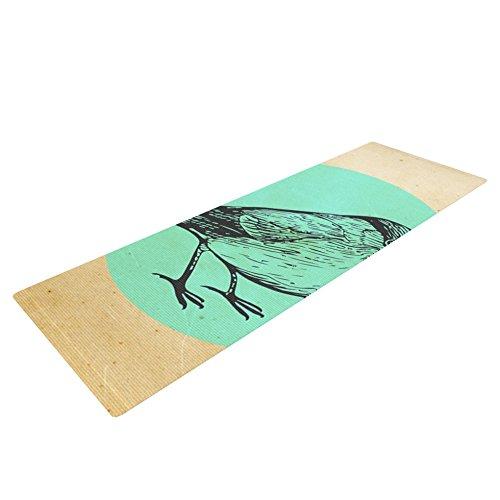 """KESS InHouse Sreetama Ray """"Old Paper Bird"""" Teal Circle Yo..."""